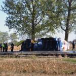 Accident rutier pe DN1, lângă Răhău, între un autoturism și o autocisternă