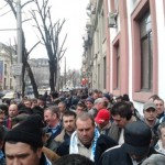 La mitingul de astăzi din capitală, alături de alte sute de sindicalişti, au participat și 50 de angajaţi ai Hidroserv Sebeş
