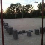 """Radu Cristian (consilier local PNL): """"SF-ul la el acasă. Pavaje din beton pe terenurile de tenis din Sebeş"""""""