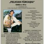 """În 1 și 2 noiembrie la Sebeş va avea loc Festivalul Naţional de muzică populară """"Felician Fărcaşiu"""", ediţia a XI-a"""