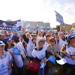 Dascălii din Sebeş au participat la acţiunea de pichetare a Palatului Parlamentului