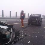 DDRP Timișoara este responsabilă cu întreținerea tronsonului din autostrada A1 pe care s-a produs accidentul în lanț din această dimineață