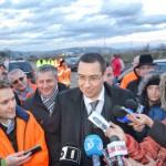La Sebeş, premierul Victor Ponta şi Dan Şova, o ultimă inspecţie la autostrada Orăştie – Sibiu, înainte de inaugurare