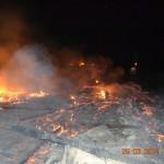 Pensiunea Salonti din Draşov a ars aproape în totalitate