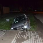 Trei tineri au ajuns la spital după ce s-au izbit cu mașina de un podeț situat pe strada Nicolae Bălcescu din Sebeș