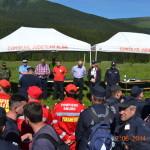 Aplicaţie de stingere a incendiilor la un fond forestier a pompierilor din Alba organizată pe Muntele Șureanu