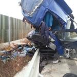 O persoană a decedat după o coliziune între două TIR-uri petrecută la ieșirea înspre Lancram de pe autostrada A1