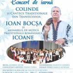 """Duminică 14 decembrie: concert de colinde si cântece tradiționale la Sebeș, cu Ioan Bocşa şi Ansamblul """"Icoane"""""""