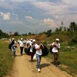 Peste 70 saci de deşeuri au fost colectaţi de pe malurile râului Sebeş în cadrul unei noi acțiuni de ecologizare organizată de Kronospan