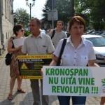 Un grup de protestatati antipoluare din Sebeș l-au întampinat pe ministrul Mediului la Alba Iulia