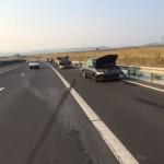 Trei autoturisme implicate într-un accident rutier petrecut pe Autostrada A1, între Sebeș și Sibiu