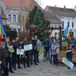 Localnicii din Sebeș și-au revendicat în stradă dreptul la un aer nepoluat