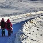 Școala din Tonea închisă începând de mâine, 18 ianuarie 2016, din cauza zăpezii și a condițiilor meteo nefavorabile