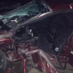 Șase tineri au ajuns la spital după ce două autoturisme au intrat în coliziune pe DN 1, în zona Lancrăm