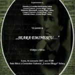 """Luni, 16 ianuarie 2017: Seară dedicată poetului național Mihai Eminescu la Centrul Cultural """"Lucian Blaga"""" din Sebeș"""