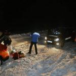 Jandarmii montani din cadrul Postului Montan Şugag au intervenit pentru salvarea a doi turişti rămași blocaţi în zăpadă