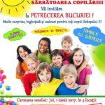1 iunie 2017 – Sărbătoarea Copilăriei, la Sebeş: O veritabilă caravană a bucuriei, cu îngheţată, premii şi surprize pentru toţi copiii, în 3 puncte ale oraşului