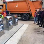 Primele opt platforme subterane de colectare a deşeurilor menajere din Municipiul Sebeş au fost testate şi puse în folosinţă