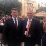 Primarul Dorin Nistor prezent la recepția oferită de Ambasada Sloveniei la București, cu prilejul sărbătoririi a 25 de ani de relații diplomatice cu România