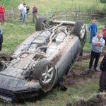 Tânărul din Daia Română care s-a răsturnat ieri cu autoturismul pe un drum de hotar era beat. S-a ales cu dosar de cercetare penală