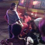 Un motociclist și-a fracturat un picior, după ce a intrat în coliziune cu un autoturism, pe strada Valea Frumoasei din Sebeș