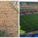 Municipalitatea din Sebeș a plătit pentru gazonul, care s-a uscat la două luni după ce a fost pus, aproape același preț pe care l-a plătit FRF pentru cel de pe Național Arena