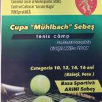 """Între 21 și 23 octombrie 2017, Baza sportivă """"Arini"""" din Sebeș va fi gazda celei de-a XII-a ediții a CUPEI MUHLBACH, la tenis de câmp"""