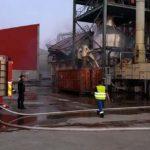 Incendiu la centrala termică pentru plăcile MDF de pe platforma Kronospan Sebeș