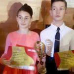 Micuții dansatori sportivi Christian Walter (Petrești) și Naomi Popescu (Sebeș) fac senzație la DSB European Grand Prix