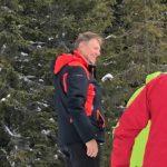 Klaus Iohannis s-a aflat astăzi la schi în Munții Șureanu, pentru a patra oară în acest an