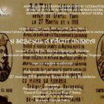 """Mâine 27 martie 2018: Centrul Cultural Lucian Blaga va fi gazda Conferinței cu tema """"Și Sebeșul a facut Unirea!"""""""