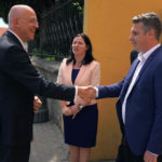 Excelența sa, Cord Meier-Klodt, ambasadorul Germaniei în România a vizitat Liceul German din Sebeș