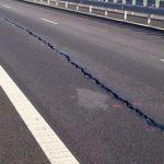 Au apărut din nou fisuri pe Lotul 3 al Autostrăzii A1, între Sebeș și Sibiu