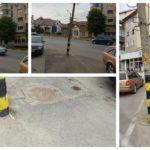 Un stâlp de energie electrică, sprijinit doar în cabluri, pune în pericol viața locuitorilor din Sebeș