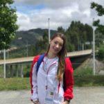Gimnasta Flavia Sebastiana Sentea, din Sebeș, pe podium la Campionatele Mondiale de Gimnastică Aerobică din Portugalia