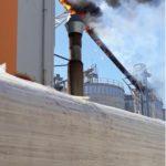 Intervenție a pompierilor militari din Sebeș pentru stingerea unui incendiu izbucnit la un elevator, aparținând Holzindustrie Schweighofer