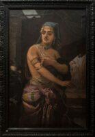 """Pictura """"Odalisca"""", realizată de artistul plastic Sava Henția – exponatul lunii iulie, la Muzeul Municipal """"Ioan Raica"""" din Sebeș"""