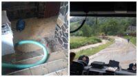 Garda de intervenție Sebeș intervine în comuna Șugag pentru decolmatare și evacuarea apei din mai multe gospodării
