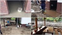 Localitatea Dobra a fost inundată de 3 ori, în doar 10 zile. Continuă intervenția pompierilor militari din Sebeș în zonele afectate